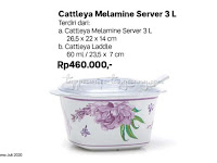 Cattleya Melamine Server 3L Tupperware Promo Juli 2020