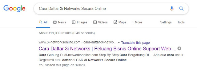 Cara Daftar 3i Networks Secara Online