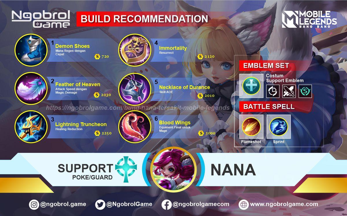 Build Nana Savage Mobile Legends