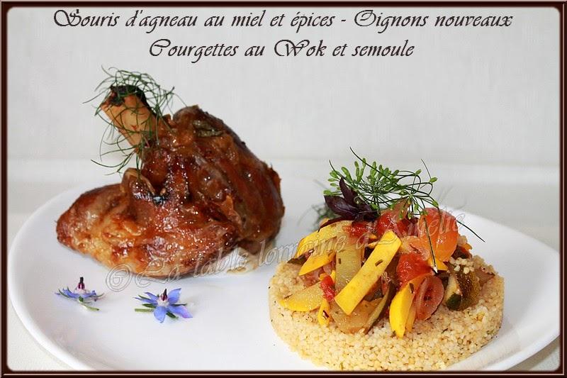 La table lorraine d 39 amelie souris d 39 agneau au miel et - Comment cuisiner la souris d agneau ...