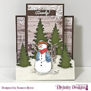 Stamp Die/Duos: Country Christmas  Custom Dies: Center Step A2 Card with Layers, Curvy Slopes Trees & Deer, Sentiment Strips  Paper Collection: Rustic Christmas
