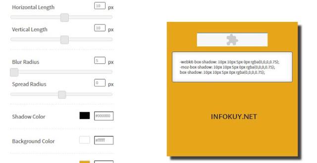 CSSmatic website box shadow generator terbaik