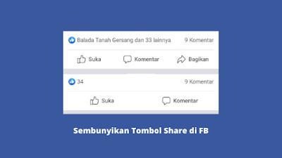 Cara menyembunyikan tombol share di fb
