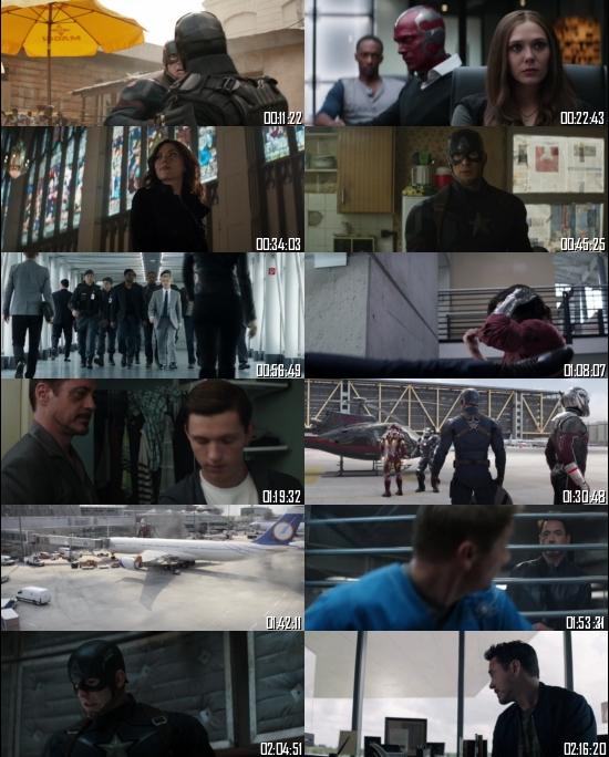 Captain America Civil War 2016 BRRip 720p 480p Dual Audio Hindi English Full Movie Download