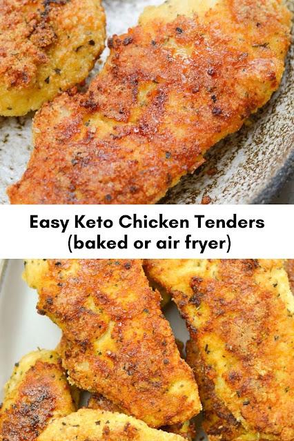 Easy Keto Chicken Tenders (baked or air fryer)