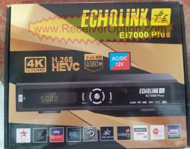 ECHOLINK Ei7000 PLUS HD RECEIVER TEN SPORTS OK NEW SOFTWARE BY USB