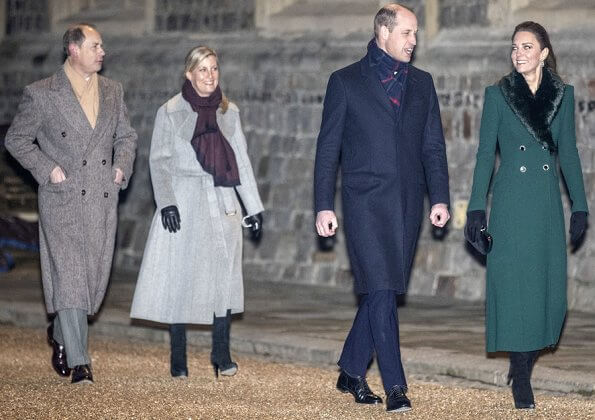 Queen Elizabeth, the Duke and Duchess of Cornwall, the Duke and Duchess of Cambridge, the Earl and Countess of Wessex, Princess Anne