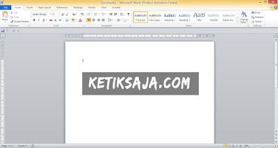 Cara Mengaktifkan Microsoft Word