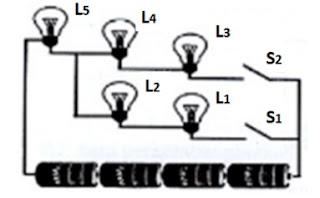 contoh skema rangkaian listrik kelas 6 sd