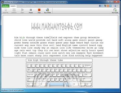 Cara Mengetik 10 Jari KeyBlaze Typing Tutor
