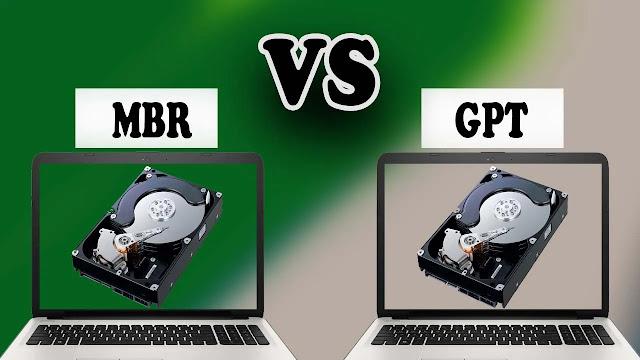 mbr vs gpt الفرق اليكم الشرح الكامل