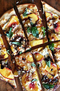 vegetarian nectarine pizza
