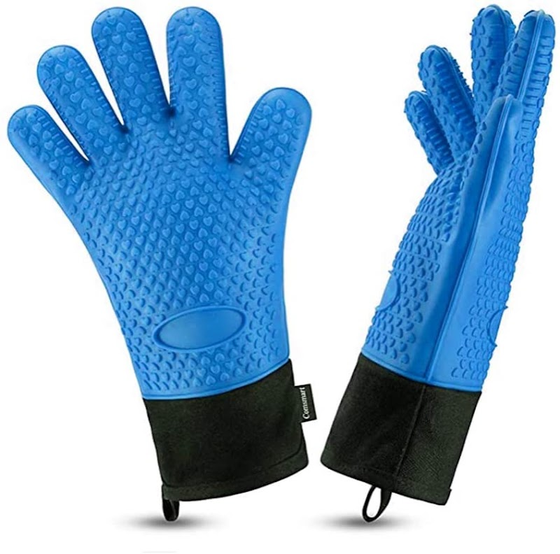 60% off BBQ Grilling Gloves, Best Versatile Heat Resistant Grill Gloves Silicone Oven Mitts