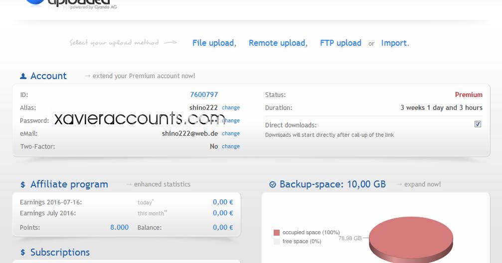 Uploaded premium traffic : pitaniesug ga