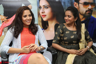 Actress Suma in Black Salwar Suit and Anusuya in orange Dress at winner movie press meet part 2 February 2017 (36).JPG
