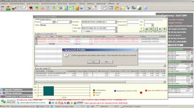 NeXT ERP Auto Peças agrupamento de pedidos