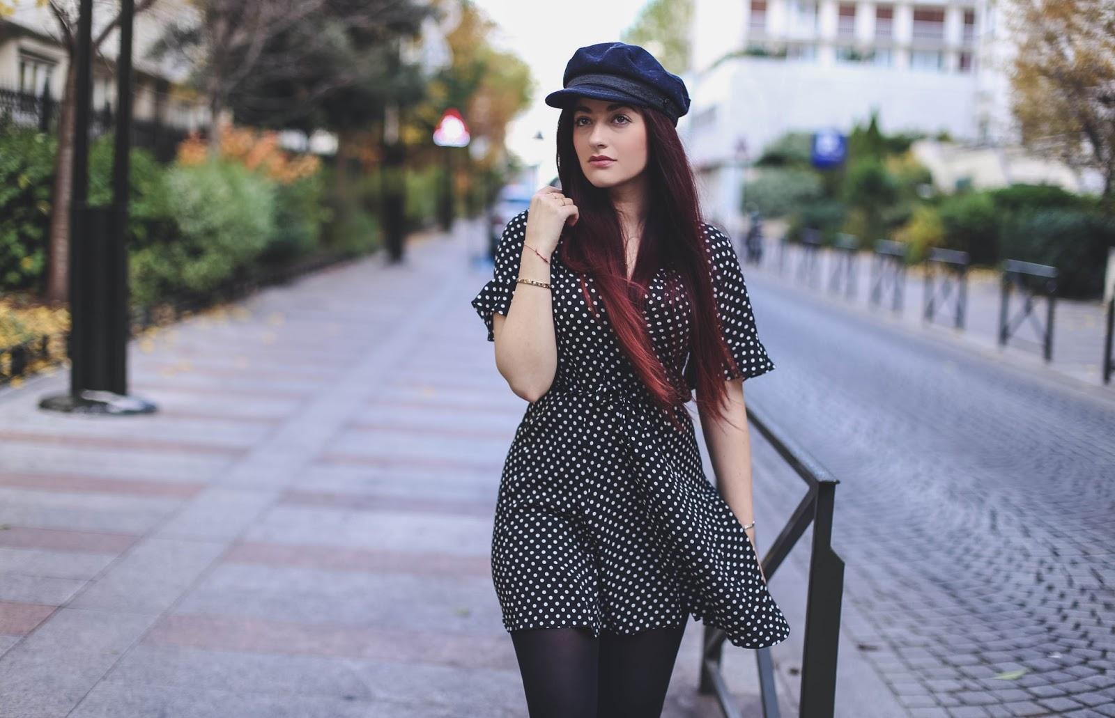 robe à pois retro blog mode paris