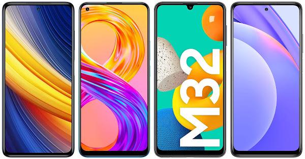 Xiaomi Poco X3 Pro vs Realme 8 Pro vs Samsung Galaxy M32 vs Xiaomi Mi 10T Lite 5G