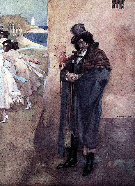 a William Russell Flint 1912 illustration of an outcast man
