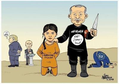 Come purtroppo era prevedibile, l'imperialismo   #USA ha deciso di scaricare i curdi siriani,   dopo averli usati come fanteria contro l'#ISIS.   È il cinismo della politica imperialista