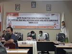 Rapat Pleno Penetapan Pasangan Calon dalam Pilwali Tahun 2020 di Samarinda