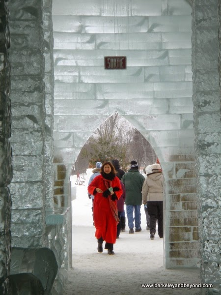 entrance to Ice Hotel in Quebec, Canada