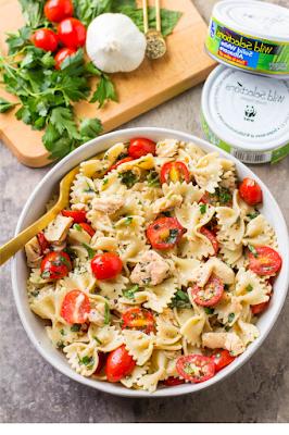 Healthy Tuña Pasta Salad