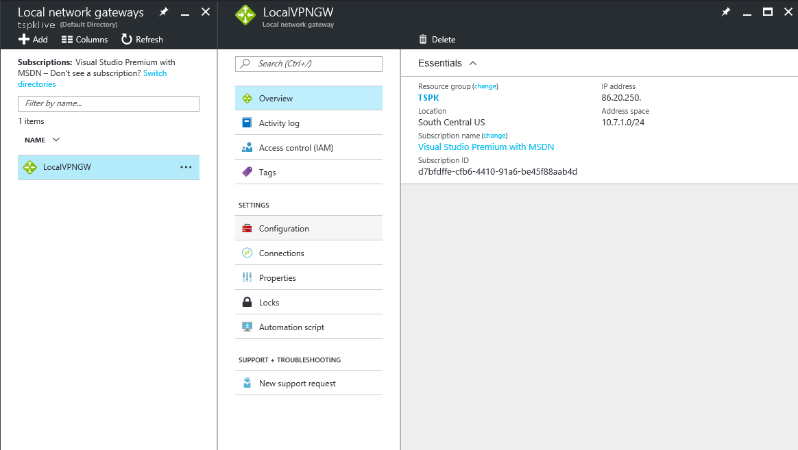 How To Set Up VPN Connection Between Azure and On-Premises Network