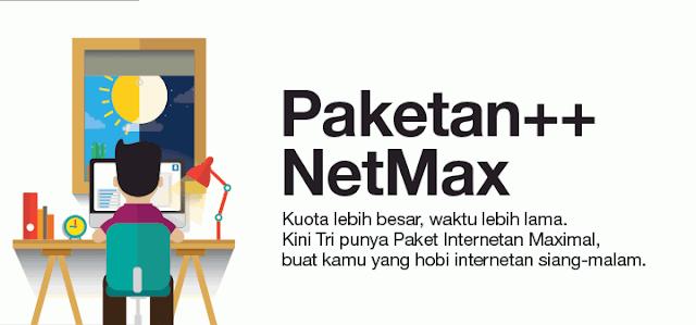 Daftar Harga Paket Three Data Netmax Termurah Metro Reload