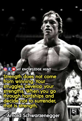 Quotes About Strength In Hard Times, Arnold Schwarzenegger life quotes