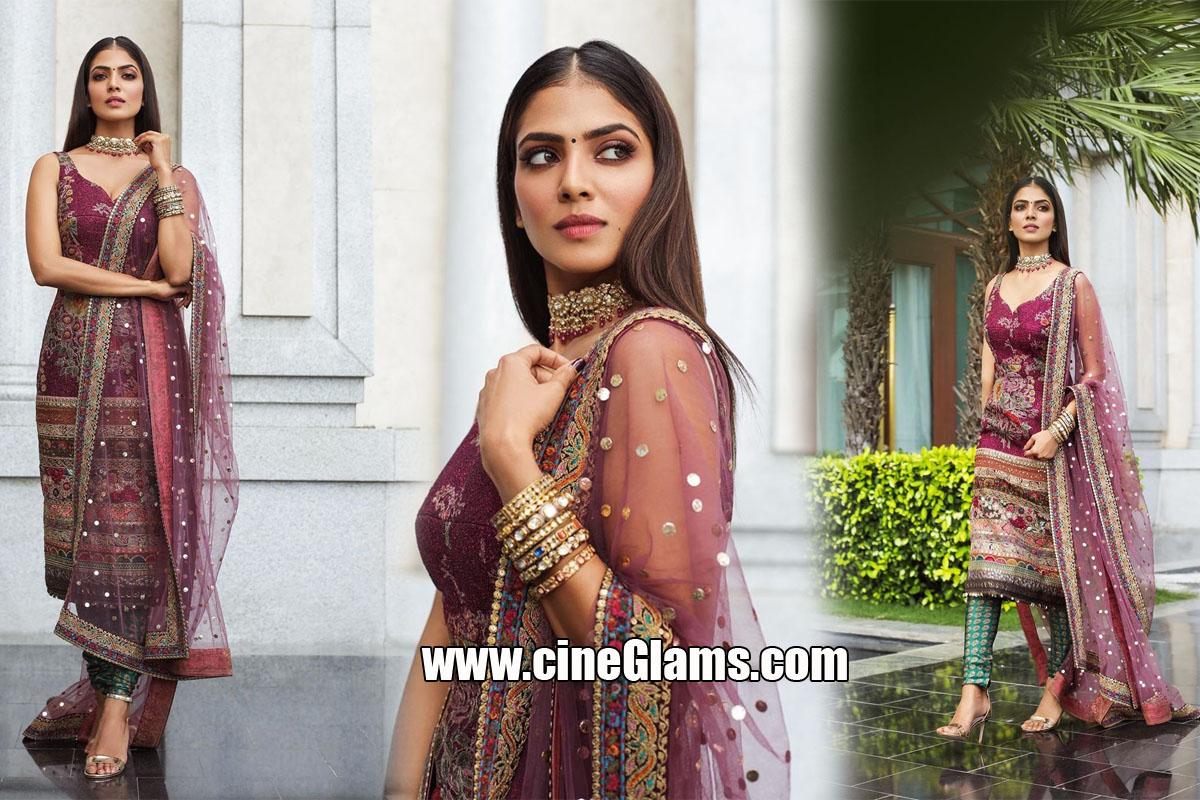Actress Malavika Mohanan At Master Movie Pre Photoshoot