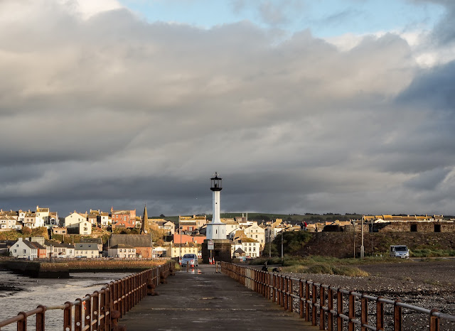 Photo of Maryport lighthouse from the pier