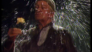 Compo from last of the Summer Wine gets a bucket of water poured over his head