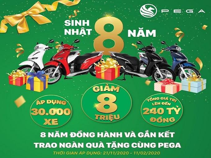 Nhanh tay tậu xe máy điện Pega-S giảm giá 8 triệu đồng chỉ còn 30,9 triệu đồng