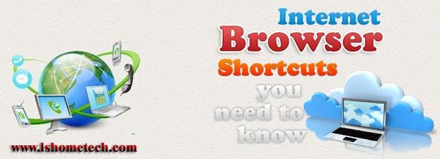 Internet browser shortcuts
