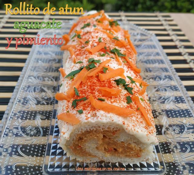 Rollito De Atun, Aguacate Y Pimiento