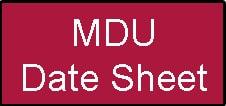 MDU Date Sheet