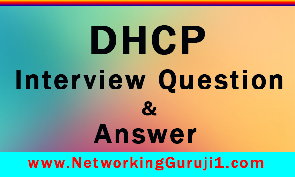 Question and Answer in dhcp