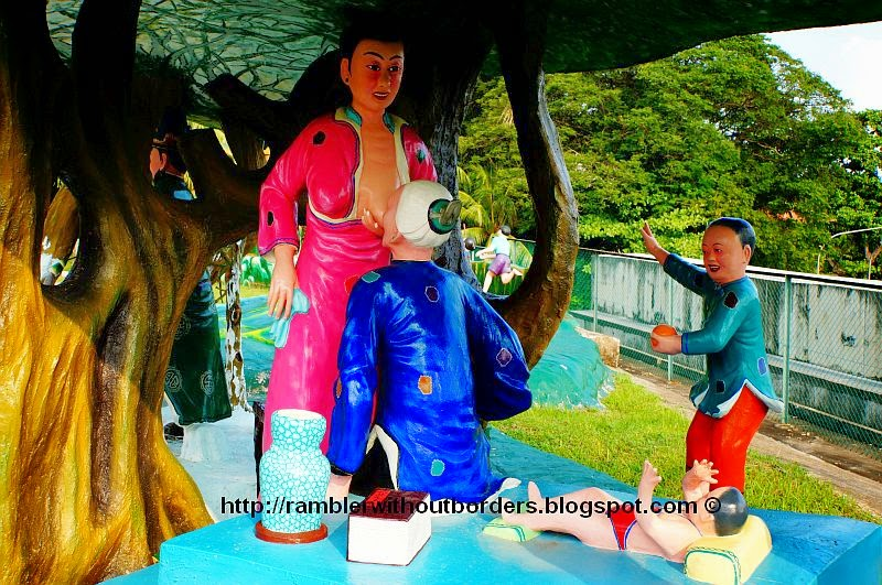 One of the stories of the 24 Paragons of filial piety, Haw Par Villa, Singapore