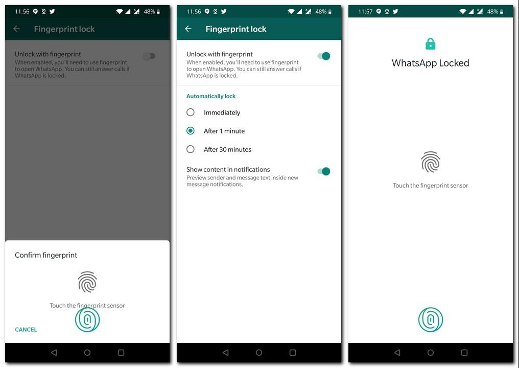 كيفية إعداد قفل بصمات الأصابع على WhatsApp لنظام Android