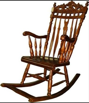 Kursi goyang ukir kayu jati asli