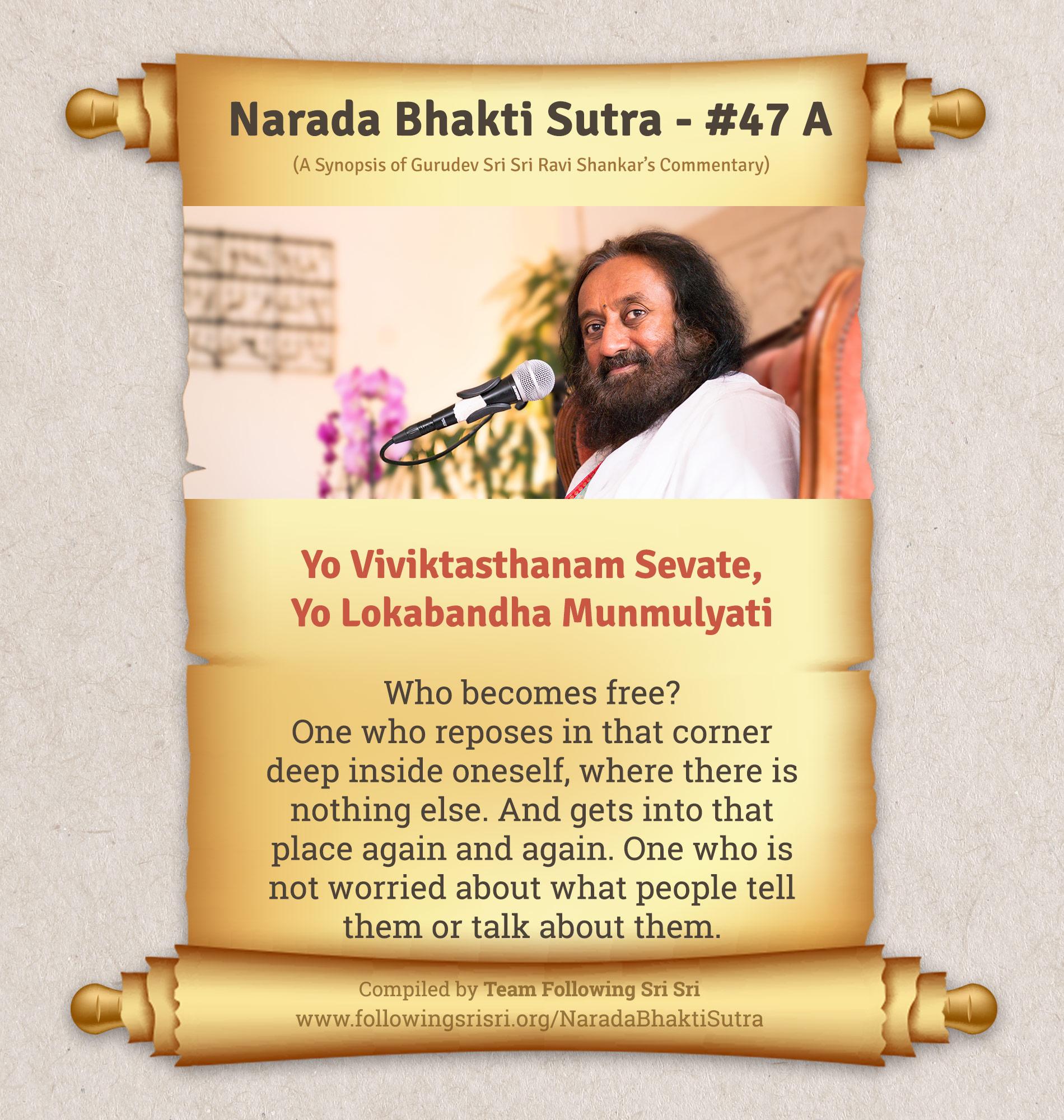 Narada Bhakti Sutras - Sutra 47 A