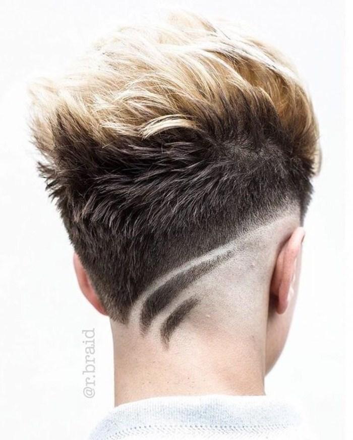 Cortes de cabelo masculino com risco