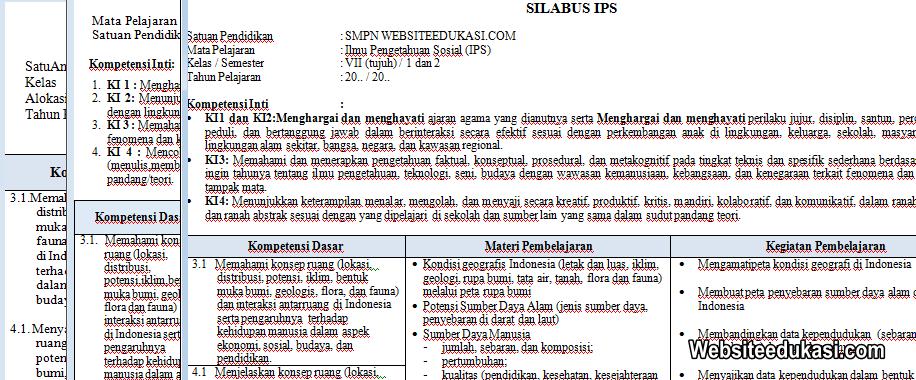 Download Silabus Ips Kelas 7 Kurikulum 2013 Revisi 2018 Guru Paud