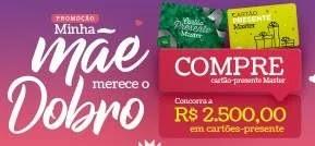 Promoção Master Supermercados 2019 Minha Mãe Merece Dobro - Mês das Mães