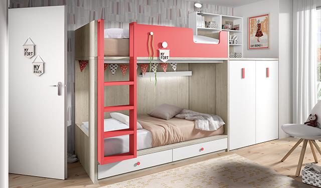 Dormitorios infantiles para ni as ni os de 0 1 2 3 4 y 5 a os - Literas para jovenes ...