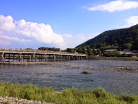 il ponte di Arashiyama sul fiume Hozo