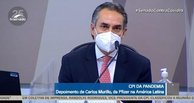 AO VIVO: Ex-presidente da Pfizer no Brasil Carlos Murillo depõe na CPI da Covid-19