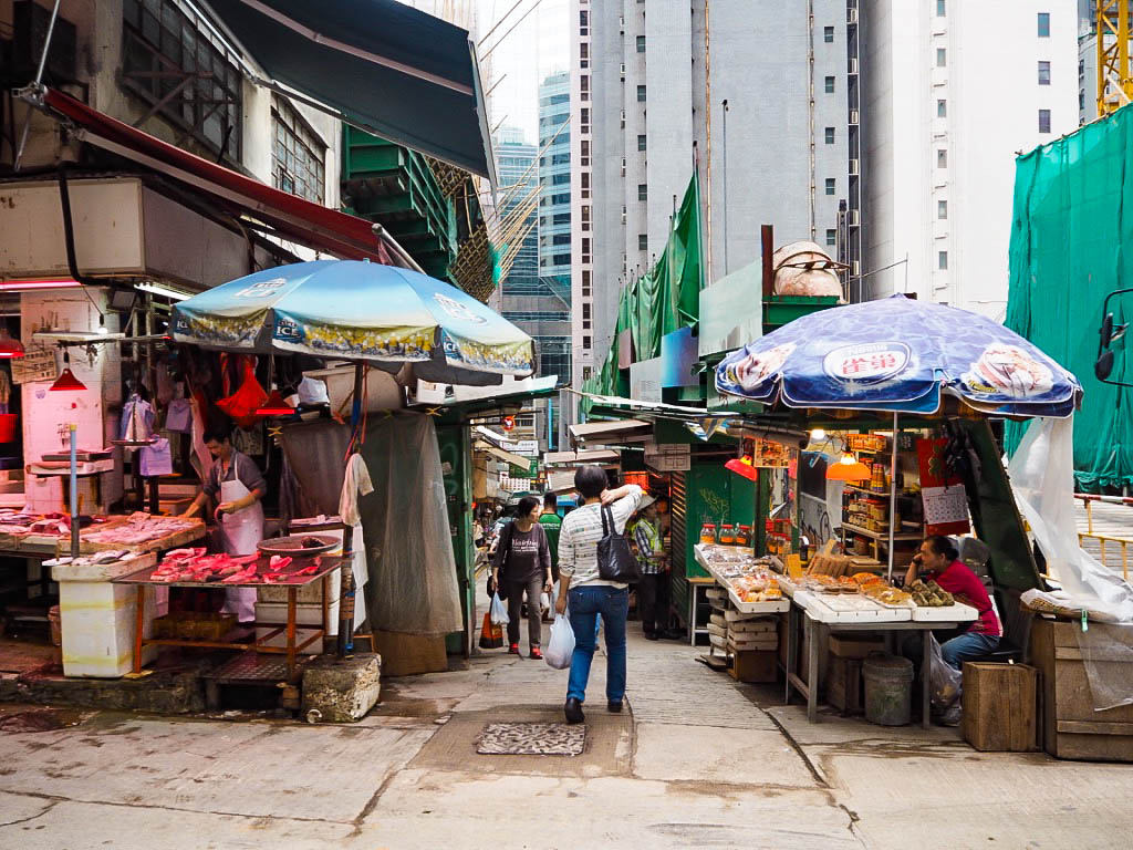Shopping street in Sheung Wan