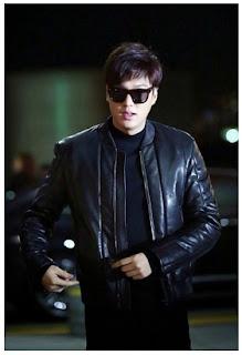 Gambar Jaket kulit Lee Min Ho My Everything
